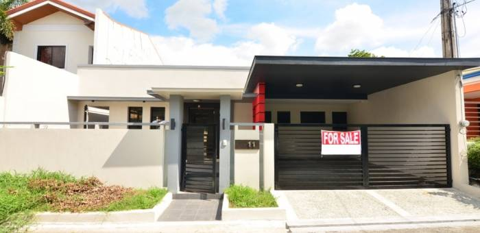Brand New Modern Design Bungalow House And Lot For Sale In Pilar Village