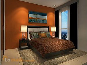 Bedroom in Warm Tones