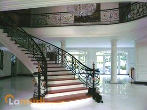 A Palatial Mansion with a Grand Staircase