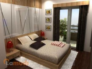 Modern Bedroom with Own Balcony
